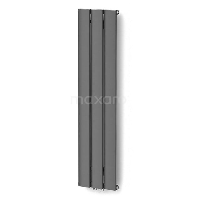 Aluminium Designradiator Metis Donkergrijs Metallic 511 Watt 28x120cm Verticaal DR58_0312RDN