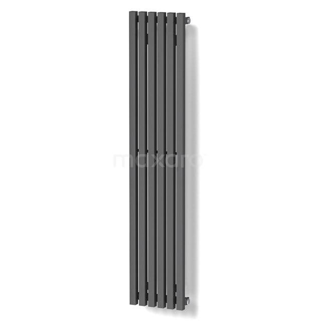 Aluminium Designradiator Sol Donkergrijs Metallic 524 Watt 25x120cm Verticaal DR59_0612RD