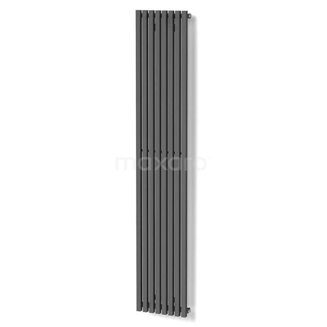 Aluminium Designradiator Sol Donkergrijs Metallic 1049 Watt 33,5x180cm Verticaal DR59_0818RD