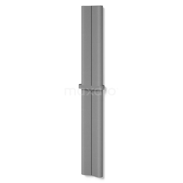 Aluminium Designradiator Carme Lichtgrijs Metallic 526 Watt 24,5x180cm Verticaal DR62_0218RLT