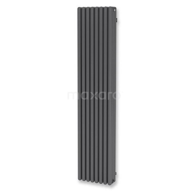 Aluminium Designradiator Triton Donkergrijs Metallic 3864 Watt 39x180cm Verticaal DR64_0818RD