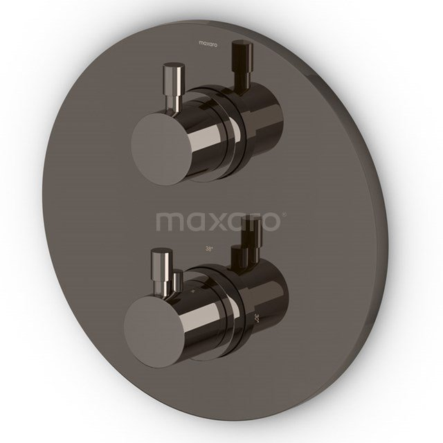 Inbouw Douchekraan Radius Black Chrome, Thermostatisch, Zwart Chroom 55.152.512BCNS
