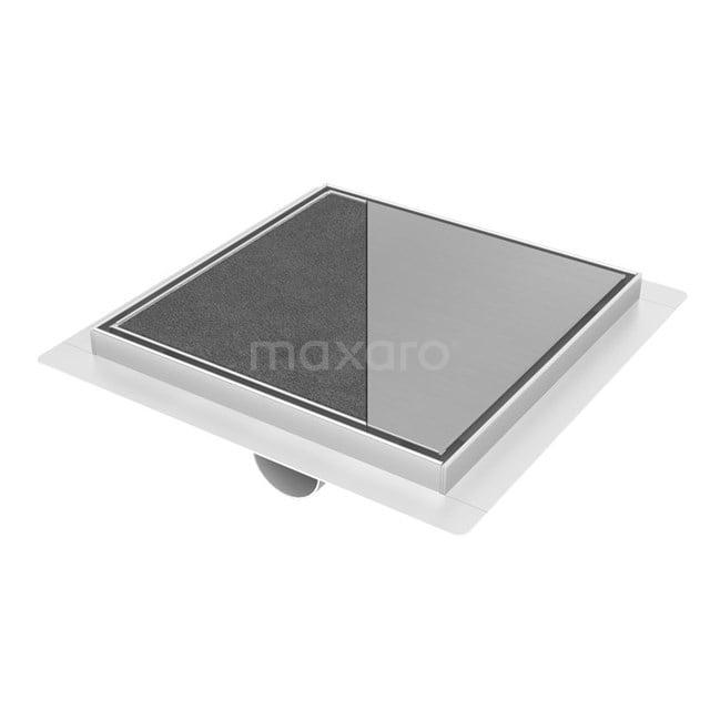 Doucheput RVS met Flens 20cm Tile & Plate Rooster DSG02-200N
