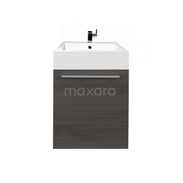 Toiletmeubel met Wastafel Mineraalmarmer Canto Grijs Eiken 45cm F02-045012801B