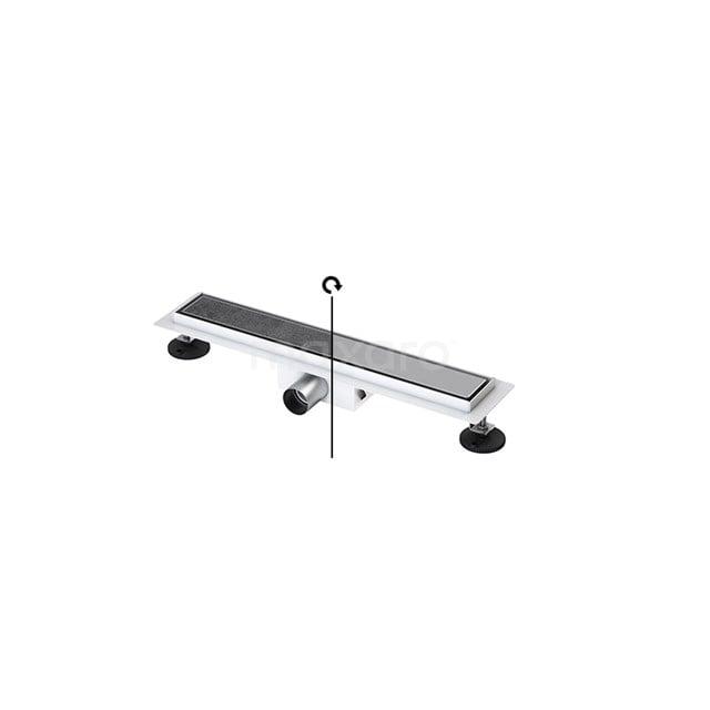 Douchegoot RVS met Flens 50cm Tile & plate Rooster  DFG02-0500