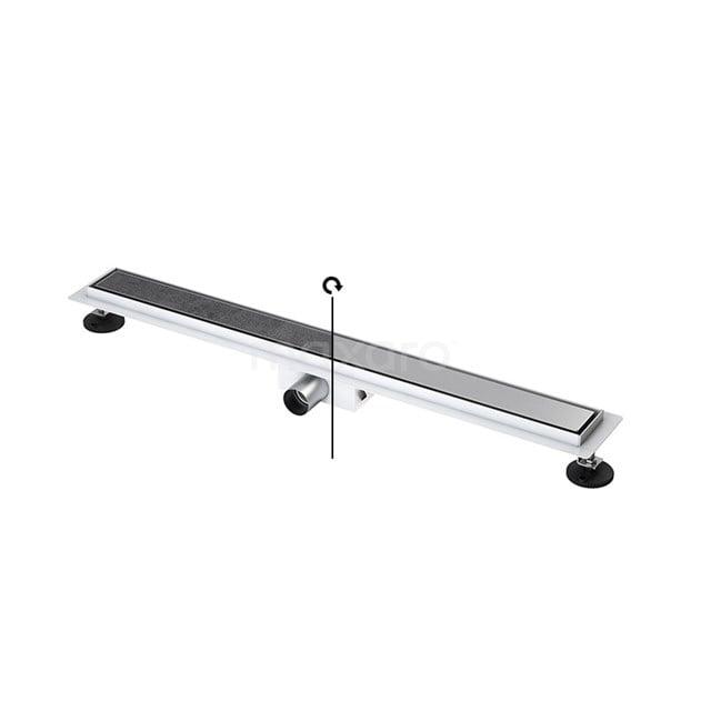 Douchegoot RVS met Flens 80cm Tile & plate Rooster  DFG02-0800