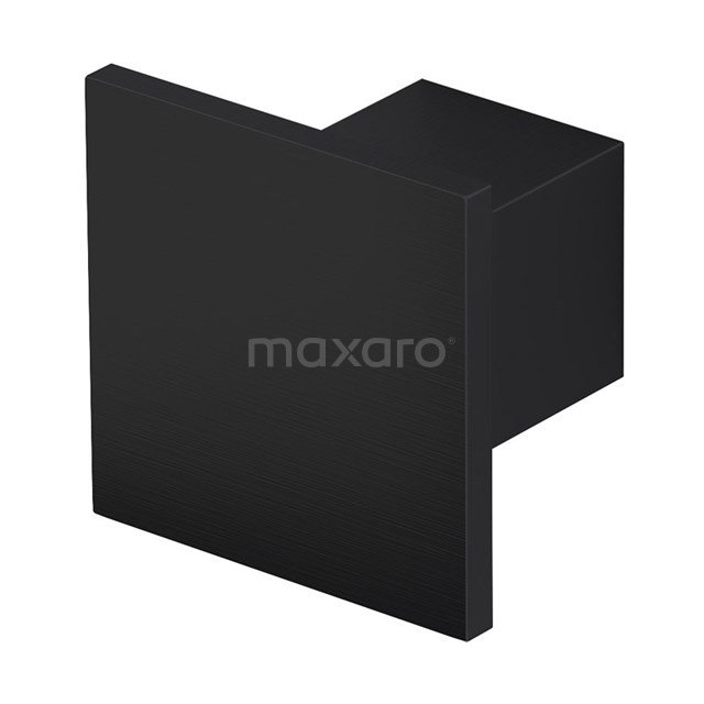 Mano 90 meubelknop, vierkant, zwart H90-0000-22