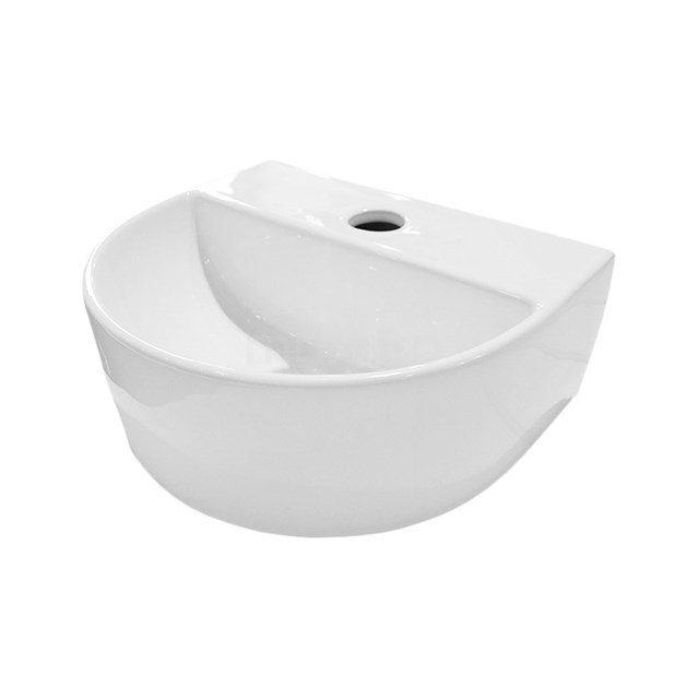 Fonteintje WC Clasico Keramiek Wit met Kraangat K110-1200