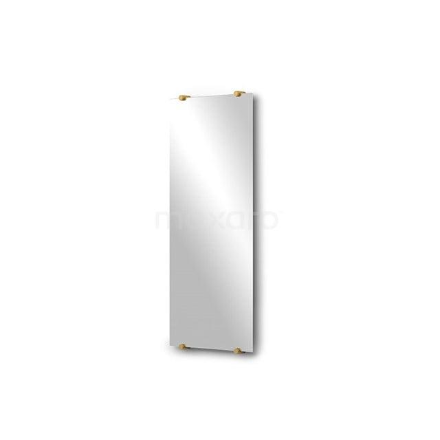 Badkamerspiegel Solo 70x30cm Spiegelhouders Rond Goud M01-030720GG