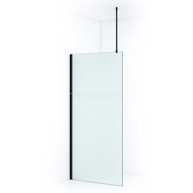 Douchewand Inloopdouche Pearl 100cm Matglas Veiligheidsglas 8mm Mat Zwart IPA10707M