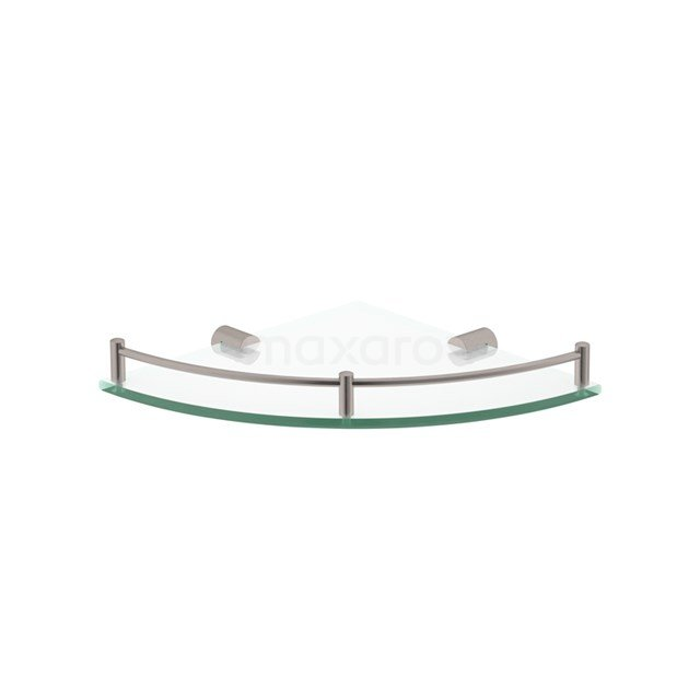 Hoekplanchet Radius Steel, Badkamer, Glas, Rvs-look 190-2101BR