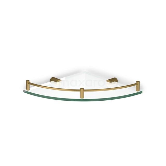 Hoekplanchet Radius Gold, Badkamer, Glas, Goud 190-2101GG