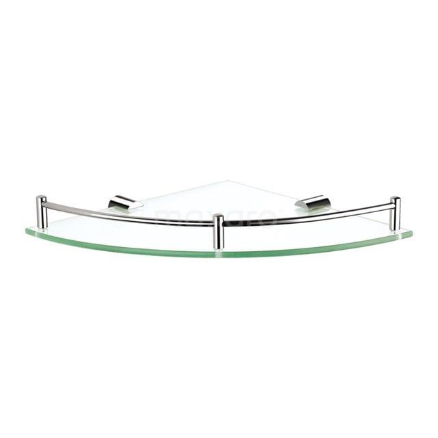 Hoekplanchet Radius Chrome, Badkamer, Glas, Chroom 190-2101