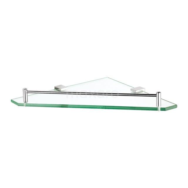 Hoekplanchet Cubic Chrome, Badkamer, Glas, Chroom 190-2102