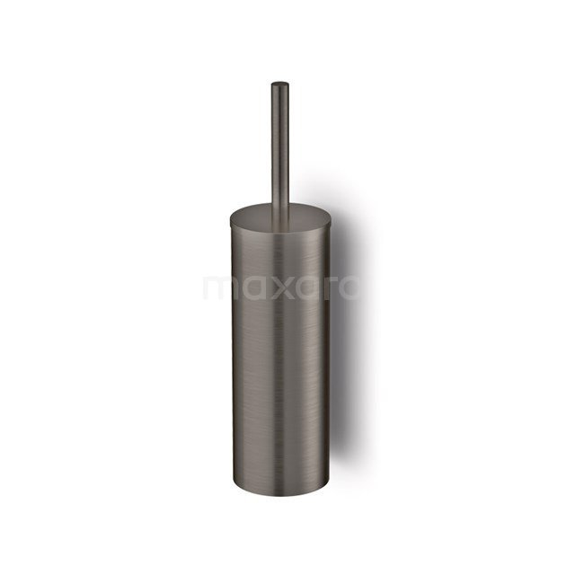 WC Borstel Radius Black Steel, Hangend, Zwart Metaal 200-1202ZM