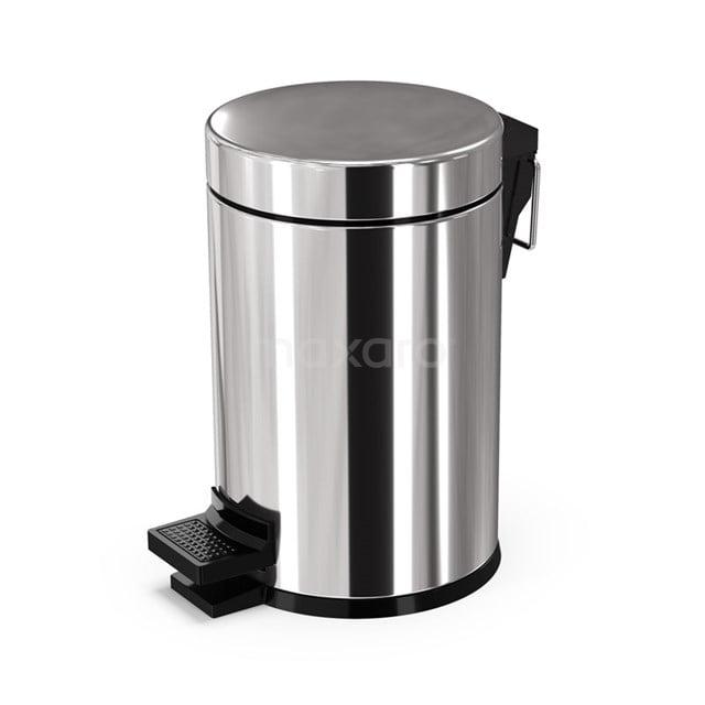 Pedaalemmer Radius Chrome voor Badkamer en Toilet, 3 liter, Chroom 200-5201