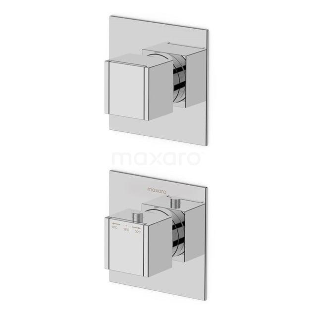 Inbouw Douchekraan Cubic Chrome, Thermostatisch, Chroom 22.152.402NS