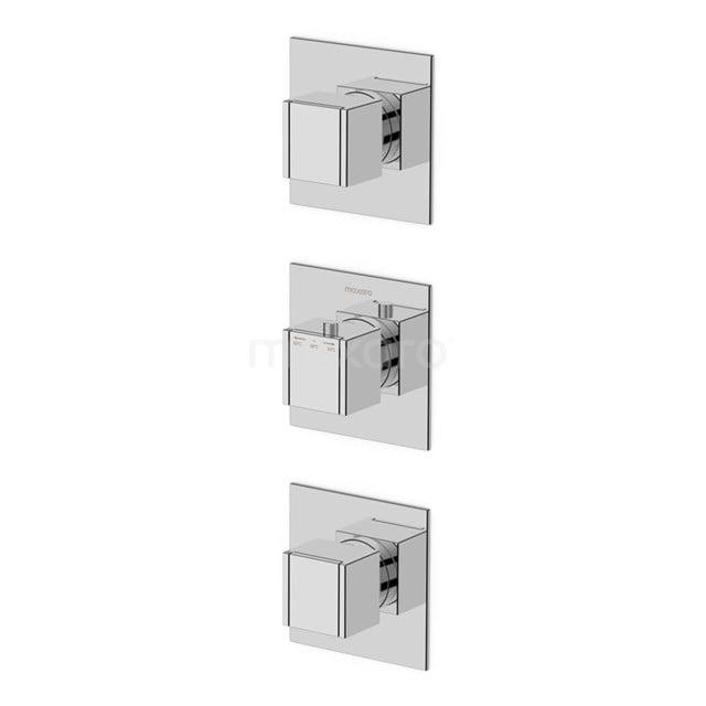 Inbouw Douchekraan Cubic Chrome, Thermostatisch, Chroom 22.152.602NS