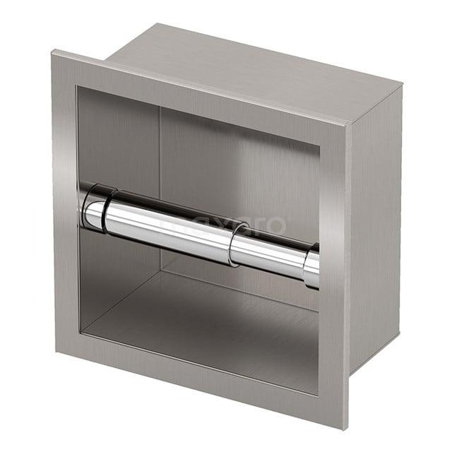 Inbouw Toiletrolhouder, RVS 240-1101
