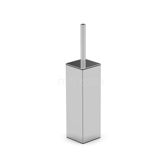 WC Borstel Cubic Chrome, Staand, Chroom 250-1205