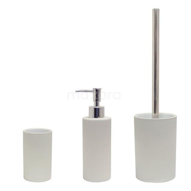 Badkamer Accessoires Set Solid. Lichtgrijs 300-9903