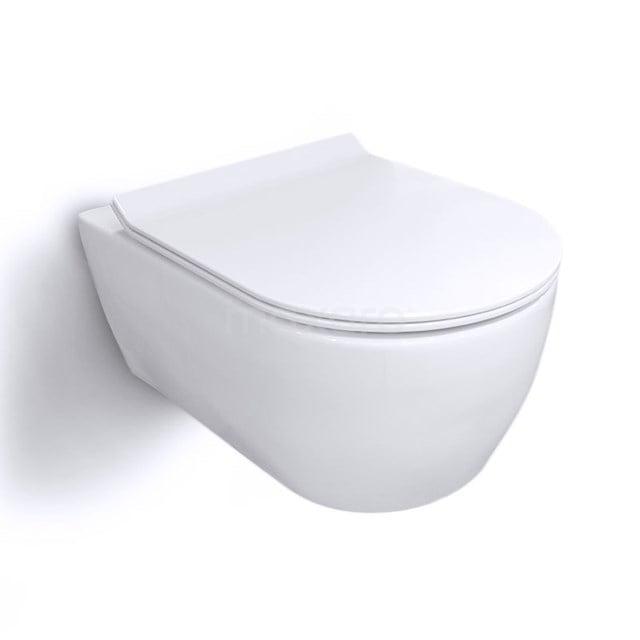 Hangend Toilet Senza Zonder Spoelrand Diepspoel Wit 300.0382M
