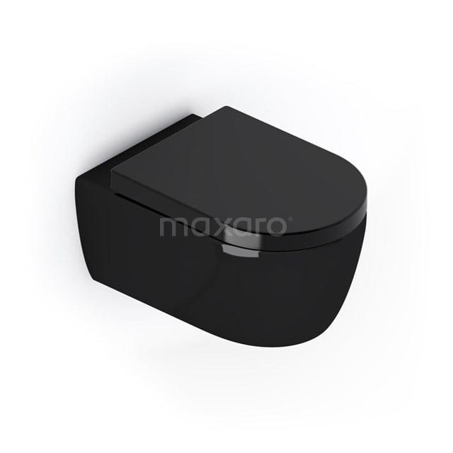 Hangend Toilet Senza Zwart Keramiek Easy Clean 300.0382GB