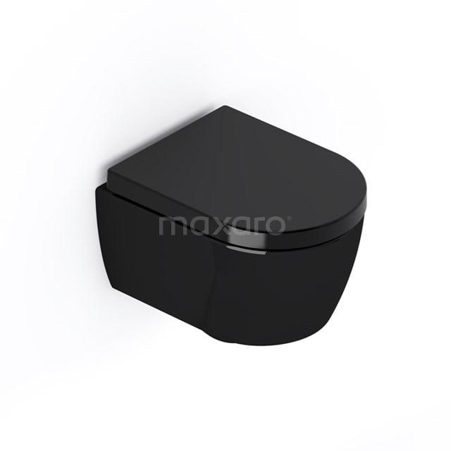 Hangend Toilet Senza Verkort Zwart Keramiek Easy Clean 300.0383GB