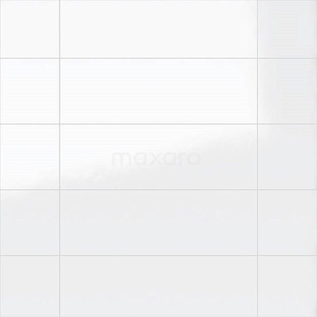 Wandtegel Blanco 25x75cm Uni Wit Glanzend Gerectificeerd 301-500201