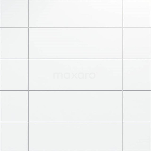 Wandtegel Blanco 25x75cm Uni Wit Mat Gerectificeerd 301-500202