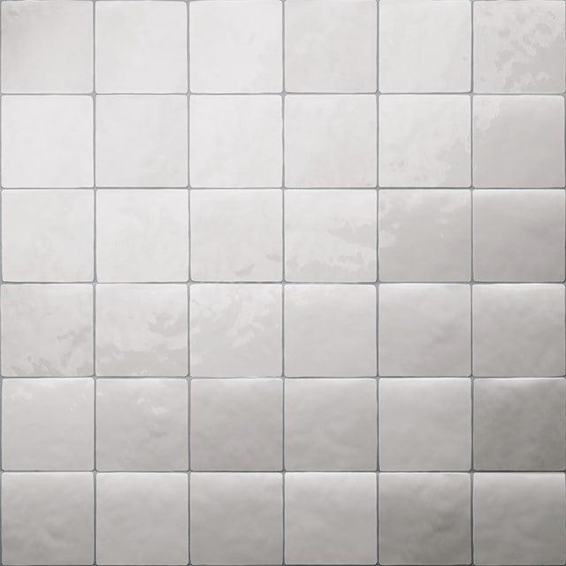Wandtegel Mica White Mix 13x13cm Uni Wit Glanzend Witjes 401-040101