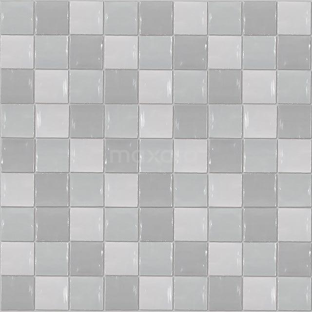 Wandtegel Mica Grey Mix 13x13cm Uni Multicolor Glanzend Witjes 401-040102