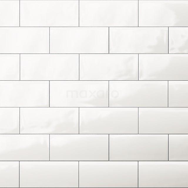 Wandtegel Malta 7,5x15cm Uni Wit Glanzend Handvorm 501-020101