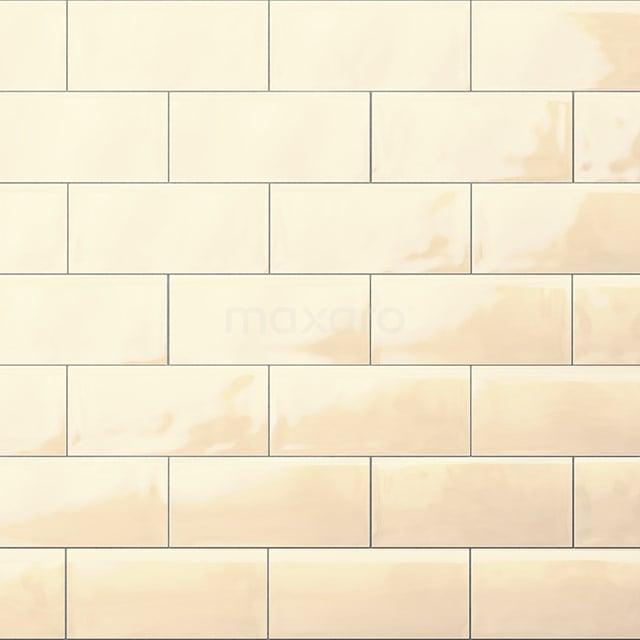 Wandtegel Malta 7,5x15cm Uni Beige Glanzend Handvorm 501-020102