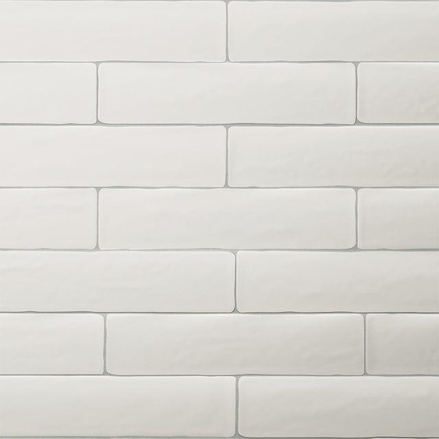 Wandtegel Horizon 7,7x28,5cm Uni Wit Mat Handvorm 501-030101