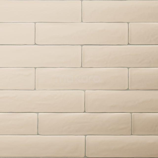 Wandtegel Horizon 7,7x28,5cm Uni Beige Mat Handvorm 501-030102