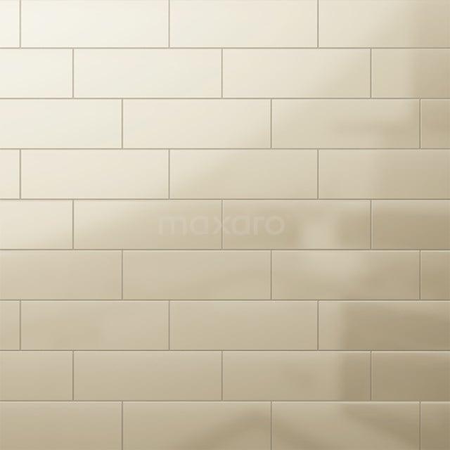 Wandtegel Mono 10x30cm Uni Beige Glanzend 501-080101