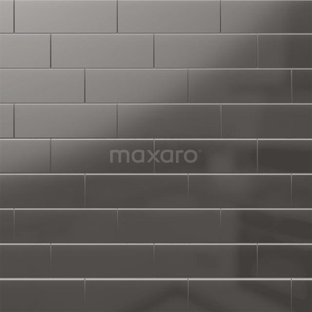 Wandtegel Mono 10x30cm Uni Grijs Glanzend 501-080102