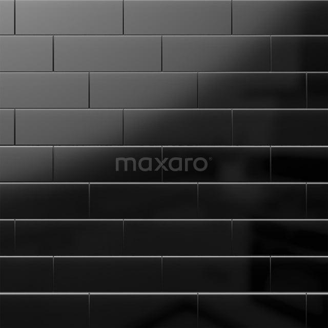 Wandtegel Mono 10x30cm Uni Zwart Glanzend 501-080103