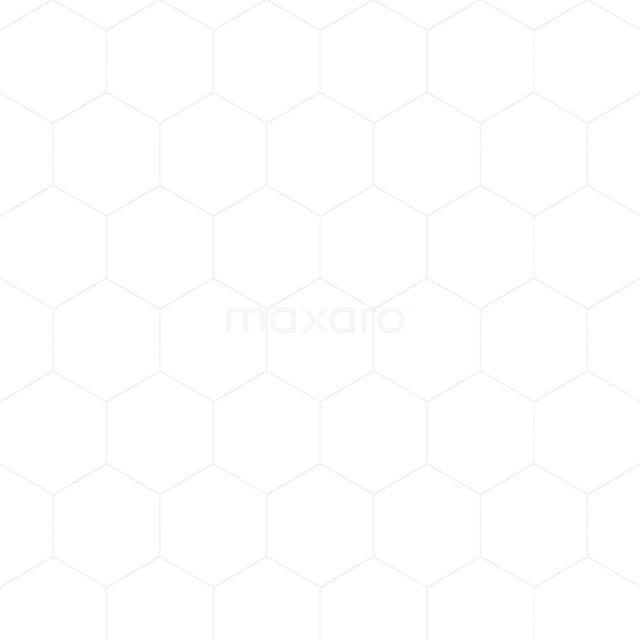 Vloertegel/Wandtegel Aspect 21,5x25cm Uni Wit Hexagon 501-090101