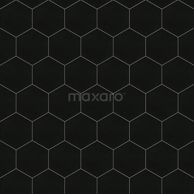 Vloertegel/Wandtegel Aspect 21,5x25cm Uni Zwart Hexagon 501-090104