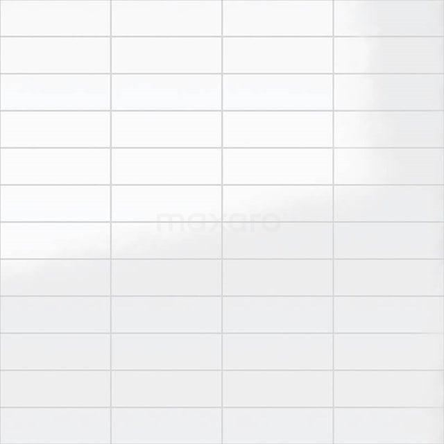 Wandtegel Blanco 10x30cm Uni Wit Glanzend 501-050101