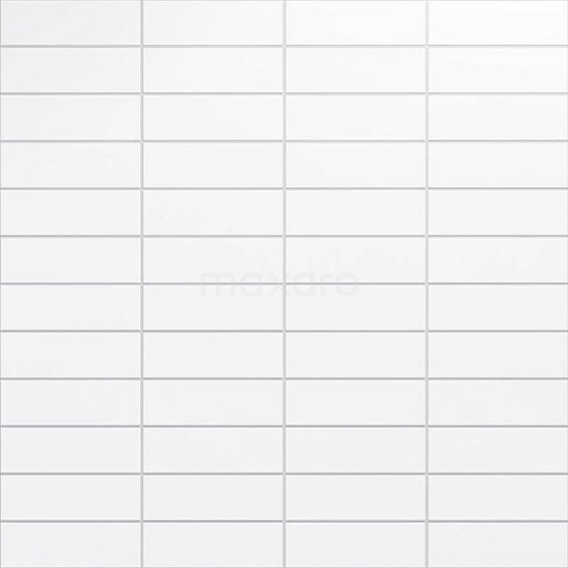Wandtegel Blanco 10x30cm Uni Wit Mat 501-050102