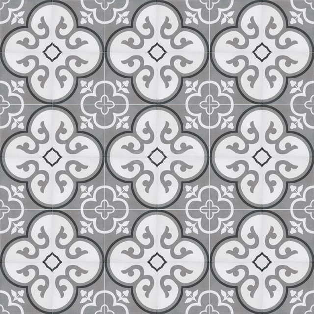 Tegelsample, Vloertegel/Wandtegel, Memory Flora Grey 502-0103TS