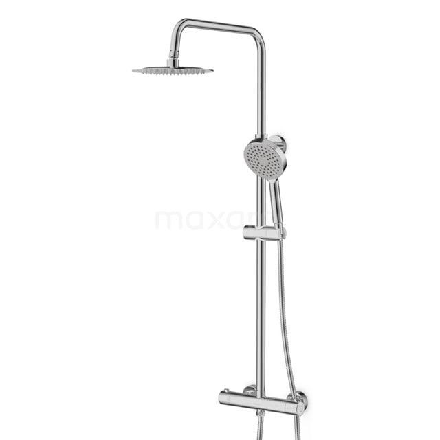 Regendoucheset Balance Chrome, Thermostaatkraan, 20cm Hoofddouche, Chroom DSC-0304-00000