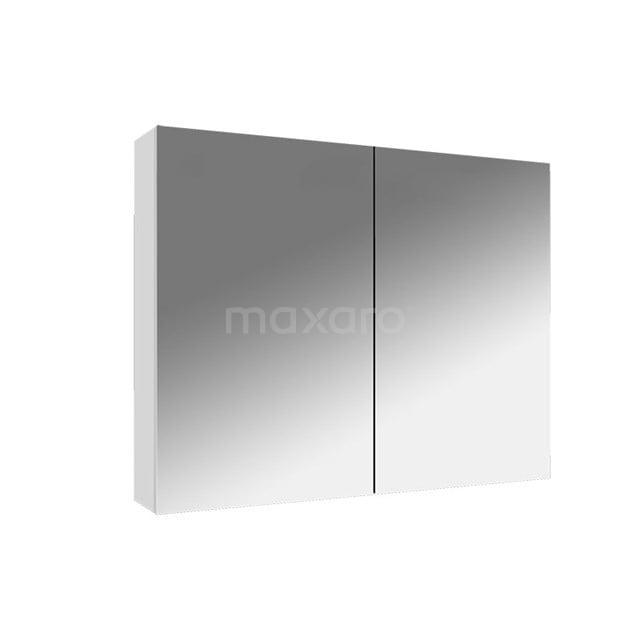Spiegelkast Lato 80x62cm Hoogglans Wit 2 Deuren K01-0800-40400
