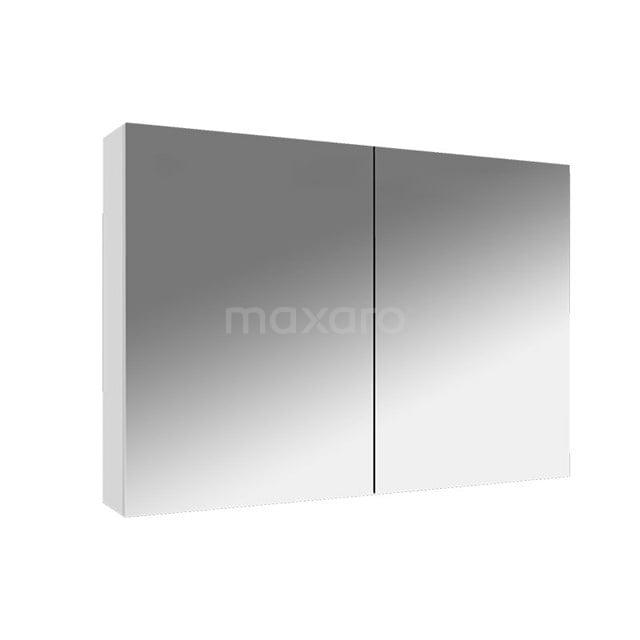 Spiegelkast Lato 90x62cm Hoogglans Wit 2 Deuren K01-0900-40400