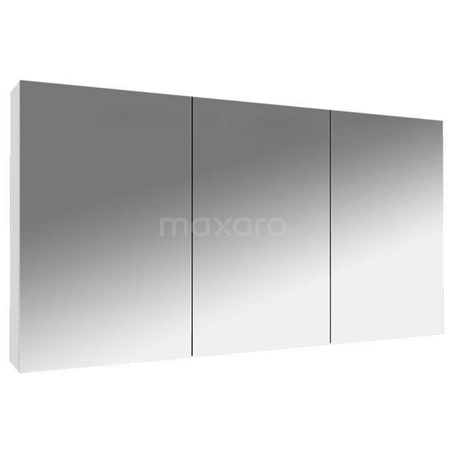 Spiegelkast Lato 120x62cm Hoogglans Wit 3 Deuren K01-1200-40401