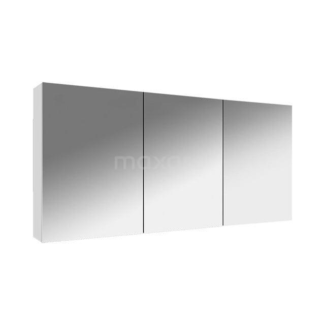 Spiegelkast Lato 135x62cm Hoogglans Wit 3 Deuren K01-1350-40401