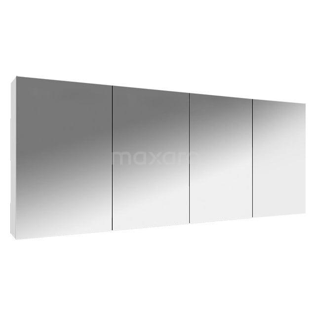 Spiegelkast Lato 160x62cm Hoogglans Wit 4 Deuren K01-1600-40400
